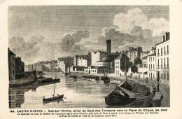 NANTES - ANCIEN NANTES - VUE SUR L'ERDRE - PRISE DU QUAI DES TANNEURS VERS LA PLACE DU CIRQUE VERS 1840 - Nantes