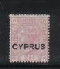 W1786 - CIPRO 1880 , Il N. 3 Tavola 14  * Mint - Chypre (...-1960)