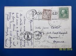 USA: 1912 PPC To France (#TB1) - Etats-Unis