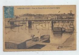 Vierzon (18) : MP D'une Péniche Lors D'une Recherche Dans Les Calles  En 1931 (animé)  PF. - Vierzon