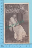 Militaria WWI - A Prayer For My Husband ,Femme Woman- Photo-montage  Postcard Carte Postale  -2 Scans - Photographie