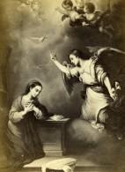 France Peinture L'Annonciation Peint Par Murillo Ancienne CDV Photo Goupil 1865 - Photographs