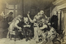 Peinture Charles Ier Insulté Par Les Soldats De Cromwell Delaroche Ancienne CDV Photo Goupil 1865
