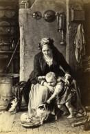 Allemagne Peinture Les Petits Chats Par Meyerheim Ancienne CDV Photo Schauer 1865 - Old (before 1900)
