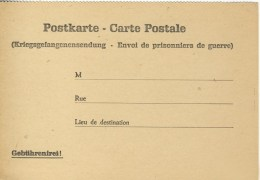 CARTE ALLEMANDE - GUERRE 14-18 - 1 WK - KRIEGSGEFANGENENSENDUNG - ENVOI DE PRISONNIERS DE GUERRE - Oorlog 1914-18