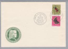 Schweiz Pro Juventute 1953-12-01 FDC Mit Zu# 241 Zusammendruck - Lettres & Documents