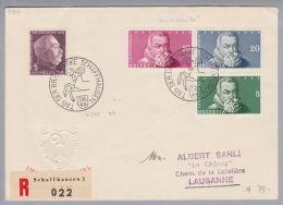 Schweiz Pro Juventute 1948-12-05 Schaffhausen Tag D.Briefmarke Br.m.IMAB-Blocka. - Lettres & Documents