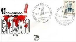 PISA - 18 9 1972 43° CONGRESSO ITALIANO ESPERANTO - Esperanto