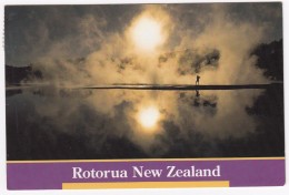 Thermal Rotorua ; A Dramatic Silhouette Against The Steamy Activities - Nieuw-Zeeland