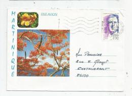Enveloppe MARTINIQUE , 1990 , FORT DE FRANCE MESSAGERIE , 2 Scans - Marcophilie (Lettres)