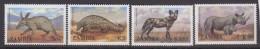 ZAMBIE       1988             N.       449 / 452       COTE    10 . 00    EUROS          ( 727 ) - Zambie (1965-...)