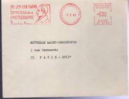 """Lettre EMA Chalon-S/Saone Ppal -3 2 66 """" Chalon-sur-Saone Berceau De La PHOTOGRAPHIE Nicéphore Niepce - Postmark Collection (Covers)"""
