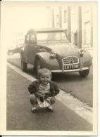2cv Automobile Citröen 1961 à Marseille Fillette - Photo 7x10cm Immatriculée 80 Somme - Automobiles