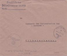 FELDPOST 11773 DCA MARINE à BREST FINISTERE FRANCE - Occupation Allemande - Kriegsmarine > Lettre Wilhelmshaven - Occupation 1938-45