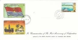 FDC 1980  - Commemoration 1er Anniversaire De L'Indépendance De KIRIBATI 1979 - Kiribati (1979-...)