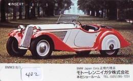 Télécarte JAPON * OLDTIMER * BMW   (402)  * Phonecard JAPAN * VOITURE * Auto * CAR * TELEFONKARTE * - Cars