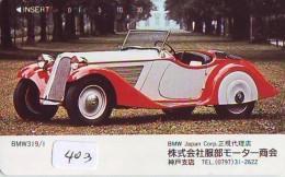Télécarte JAPON * OLDTIMER * BMW   (403)  * Phonecard JAPAN * VOITURE * Auto * CAR * TELEFONKARTE * - Cars