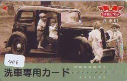 Télécarte JAPON * OLDTIMER * CAR BEAUTICIAN (406) Phonecard JAPAN * VOITURE * Auto * CAR * TELEFONKARTE * - Cars