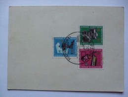 GERMANY 1965 POSTCARD RUSSICHE HANDLER AUF DER LEIPZIGER MESSE - DDR