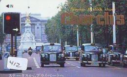Télécarte JAPON * OLDTIMER * TAXI  (412) Phonecard JAPAN * VOITURE * Auto * CAR * TELEFONKARTE * - Cars