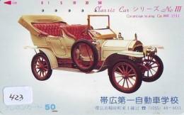 Télécarte JAPON * OLDTIMER * COLOMBIAN TOURING CAR (423) Phonecard JAPAN * VOITURE * Auto * CAR * TELEFONKARTE * - Cars