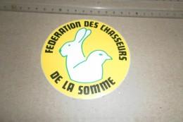 """AUTOCOLLANT CHASSE """"FÉDÉRATION  DES CHASSEURS DE LA SOMME """" - Adesivi"""
