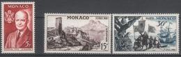 MONACO 1956 -  Y.T. SERIE N° 447 A 449 - 3 TP NEUFS* Trace De Charnieres (lot67) - Nuevos