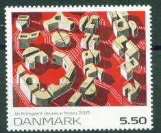 Dänemark, 2009, 1538, Kunst (I).  Häuser In Bewegung; Gemälde Von Jes Fomsgaard. MNH ** - Unused Stamps