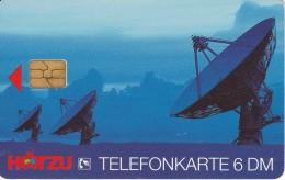 TARJETA DE ALEMANIA DE UNAS ANTENAS PARA SATELITES  (SATELLITE-SATELITE) - Astronomy