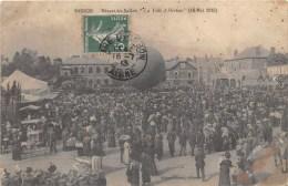 02 -HIRSON -DEPART DU BALLON-LA VILLE D HIRSON (18 MAI 1913) - Hirson