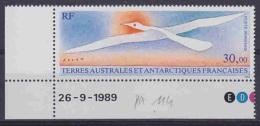 TAAF 1990 Folon / Bird 1v (corner, Printing Date)  ** Mnh (29024) - Terres Australes Et Antarctiques Françaises (TAAF)