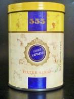 RARE ! VINTAGE ! SINGAPORE STATE EXPRESS 555 CIGARETTES ROUND TIN BOX CASE - Boites à Tabac Vides