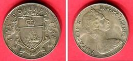 5 DOLLAR 1966 ( KM 10)  TTB+ 45 - Bahamas