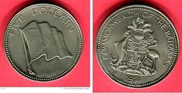5 DOLLARS 1974 ( KM )  TTB+ 28 - Bahamas