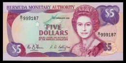 Bermuda 5 Dollars 1989 UNC - Bermudas