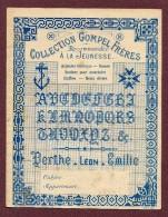 """COUVERTURE DE CAHIER   : """" GOMPEL FRERES """"  ( Genre SAJOU )  POINT DE CROIX - Cross Stitch"""