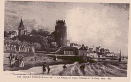 CPA ANIMÉE - BRETAGNE - ANCIEN PORNIC (44) (Loire-Inf.) - N° 256 - Plage, Vieux Château, Port, Vers 1860 - Pornic