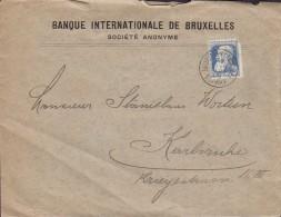 Belgium BANQUE INTERNATIONALE De BRUXELLES Société Anonyme BRUXELLES 1906 KARLSRUHE Germany Grosse Barbe Perfin Perforé - 1905 Breiter Bart