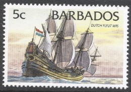 Barbados. 1994 Ships. 5c MH. No Date Imprint. SG 1075 - Barbados (1966-...)