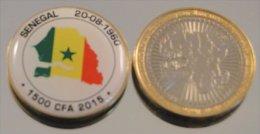 Senegal 2015 Bimetal Couleurs Drapeau - Senegal