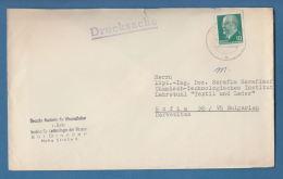 206587 / 1963 - 10 Pf. -  Walter Ulbricht , Institut Für Technologie Der Fasern ,  DRESDEN , DDR Germany - DDR