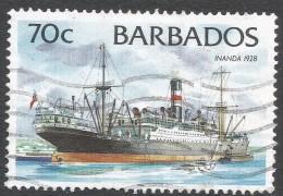Barbados. 1994 Ships. 70c Used. 1996 Imprint. SG 1083 - Barbades (1966-...)