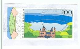 BRD Mi. 1852 Li. Rand Landschaft Eifel Kloster Maria Laach TGST BZ 01 1996 - Klöster