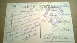 DIRECTION DES CHEMINS DE FER AUX ARMEES   CARTE PARIS LA CONCIERGERIE - Marcophilie (Lettres)