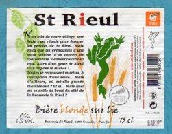 Bière ST RIEUL Bière Blode Sur Lie  Oise Picardie - Bière