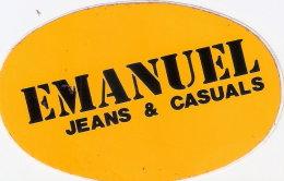Adesivo Originale Pubblicitario, Ovale EMANUEL - Jeans & Casuals - Abbiglimento - Non Classificati
