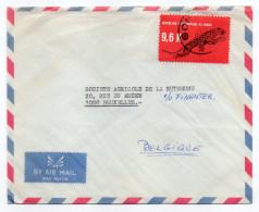 RD Congo--Lettre De RDC Pour Bruxelles Belgique-timbre Félin Seul Sur Lettre --VERSO VIERGE - République Démocratique Du Congo (1997 -...)