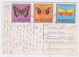 Mongolia BUTTERFLIES BUTTERFLY POSTCARD ARCHITECTURE - Butterflies