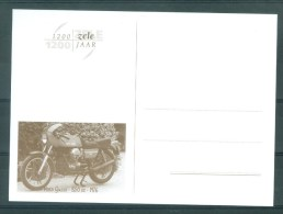 """BELGIE - Briefkaart """"1200 JAAR ZELE"""": Moto GUZZI - 850 CC - Bouwjaar 1976 - Cartes Illustrées"""