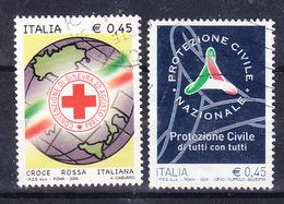 2005 PROTEZIONE CIVILE E CROCE ROSSA  USATO - 6. 1946-.. Repubblica